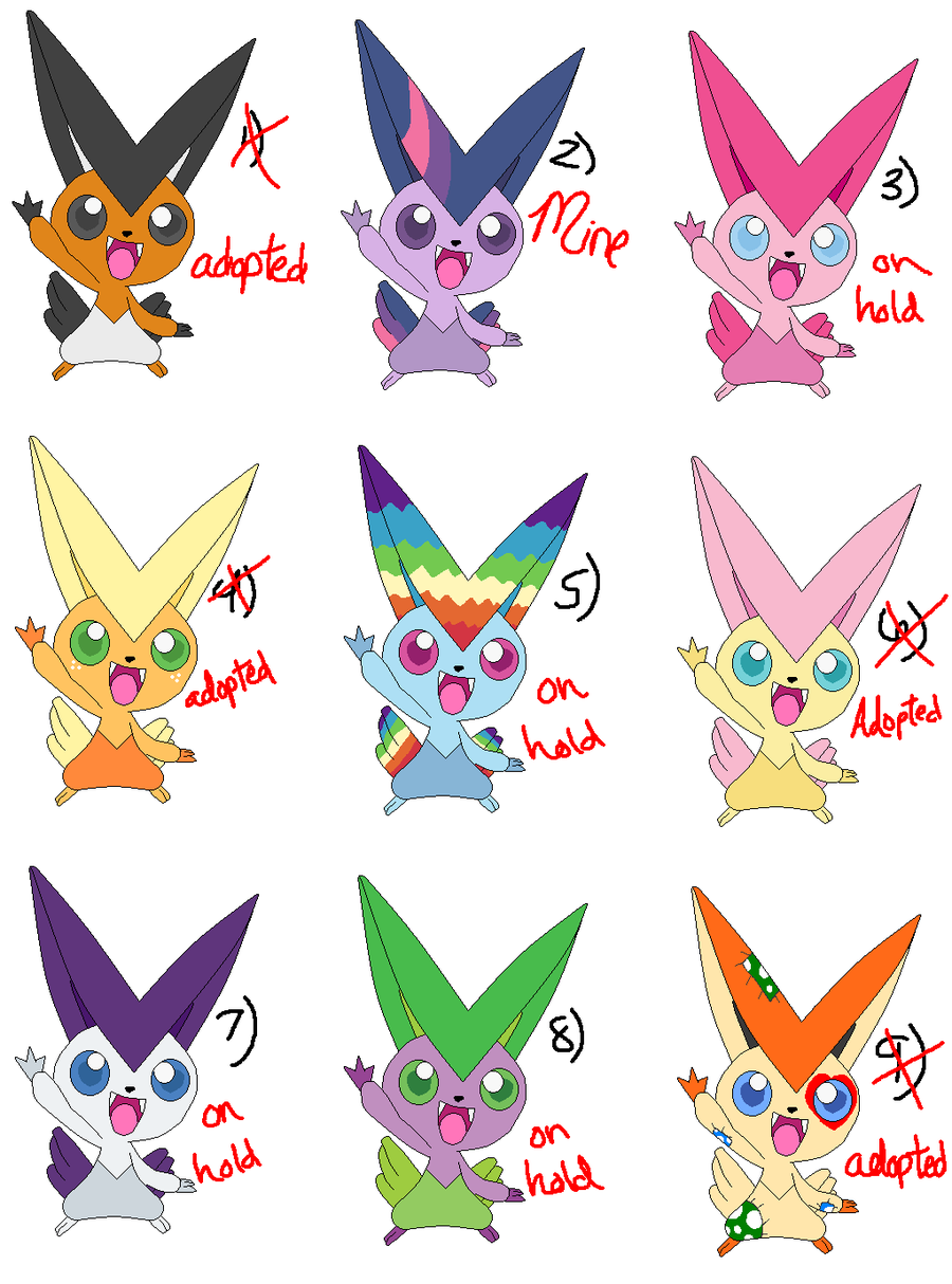 Victini Adopts :ALL ON HOLD: by zafara1222 on DeviantArt
