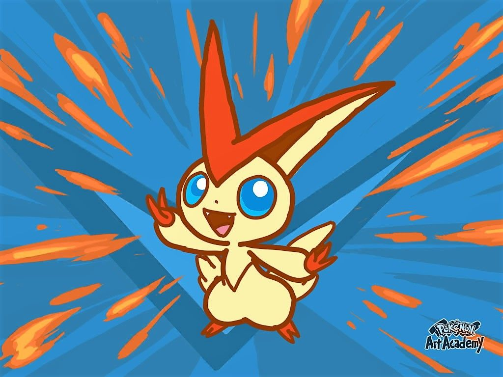 Pokemon Art Academy: Victini by BeekerMaroo777 on DeviantArt
