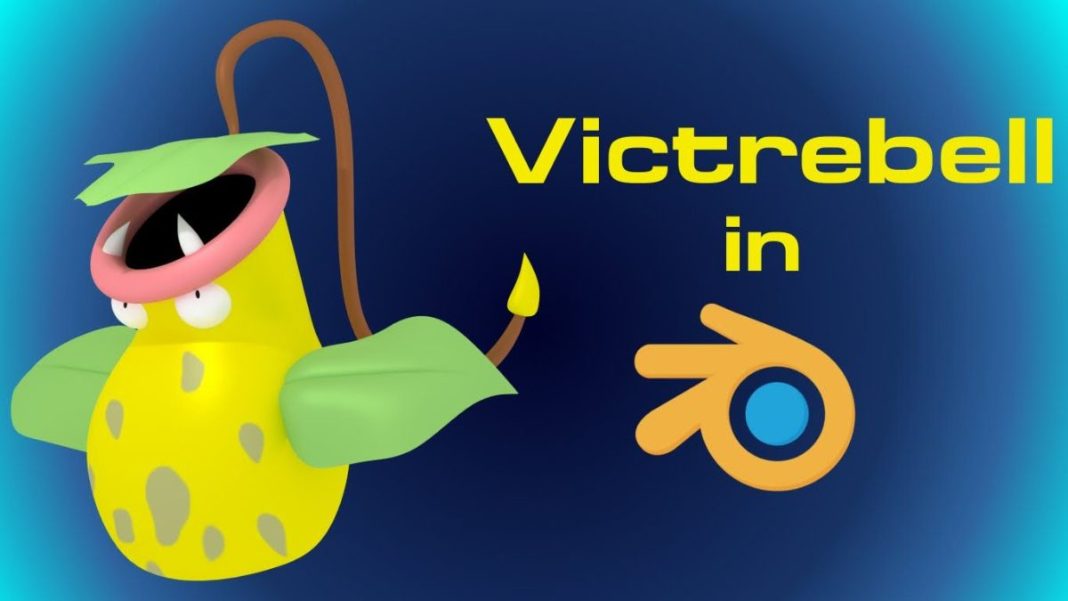 Victreebel (Pokemon) – Blender Speed Modeling – YouTube