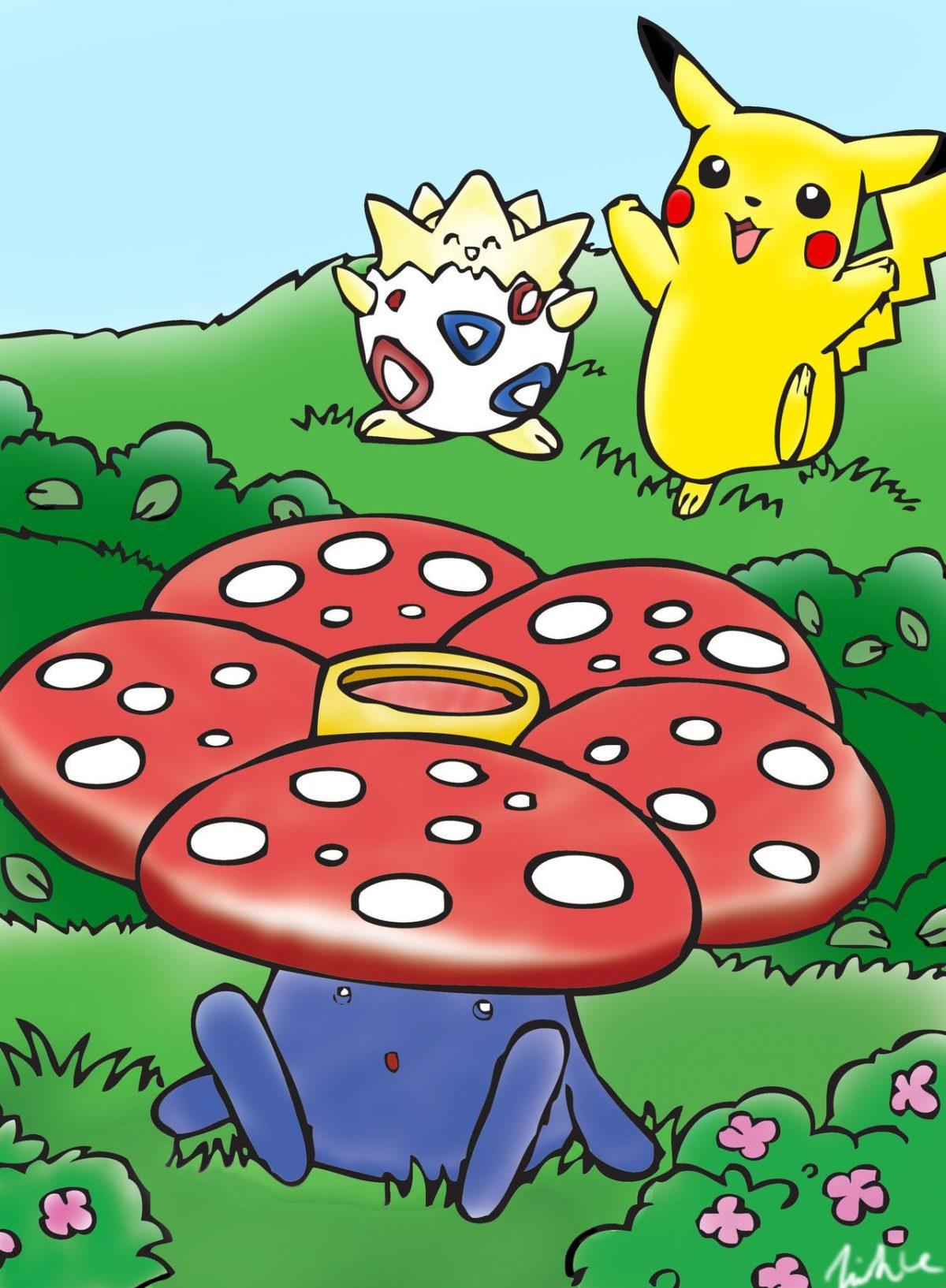 Pikachu, Togepi and Vileplume by vinh291 on DeviantArt