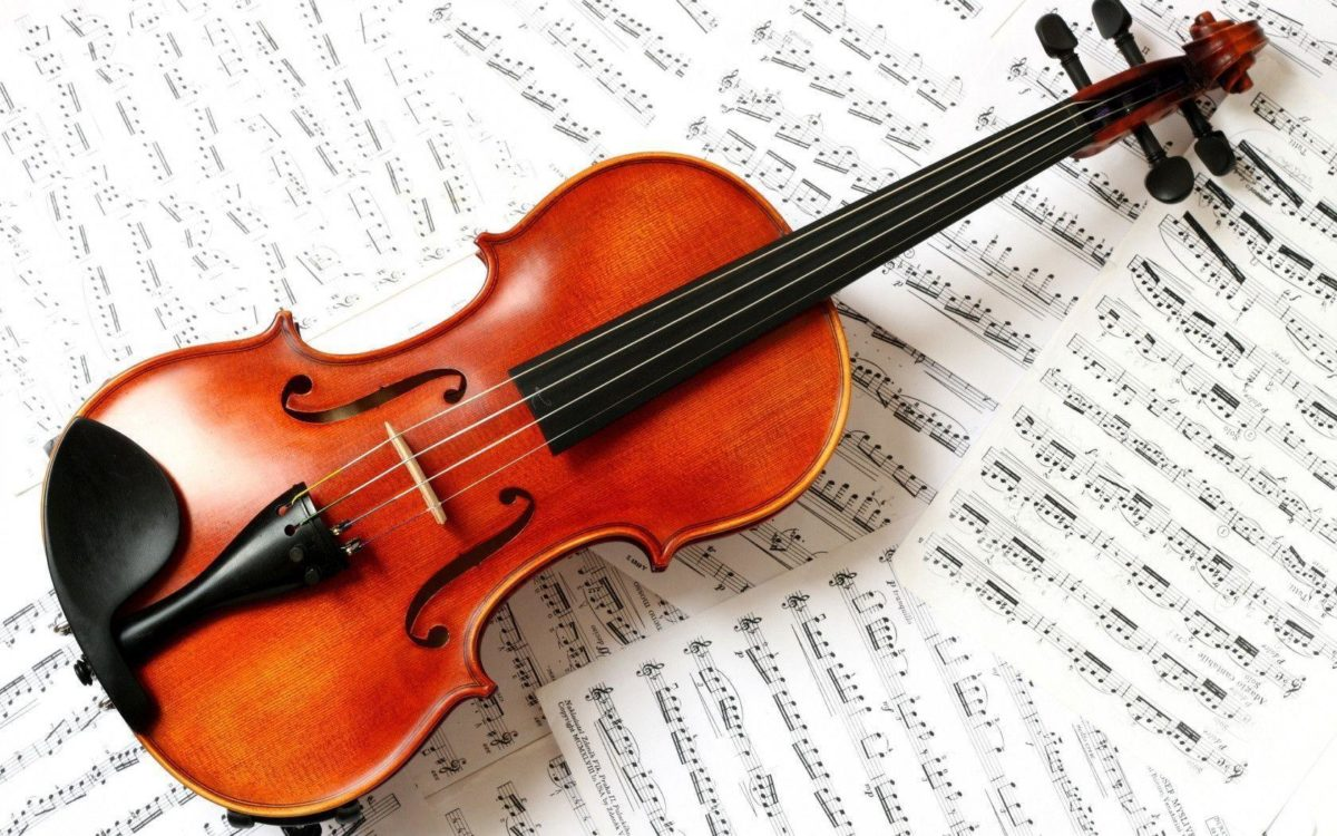 1680×1050 Violin Wallpaper