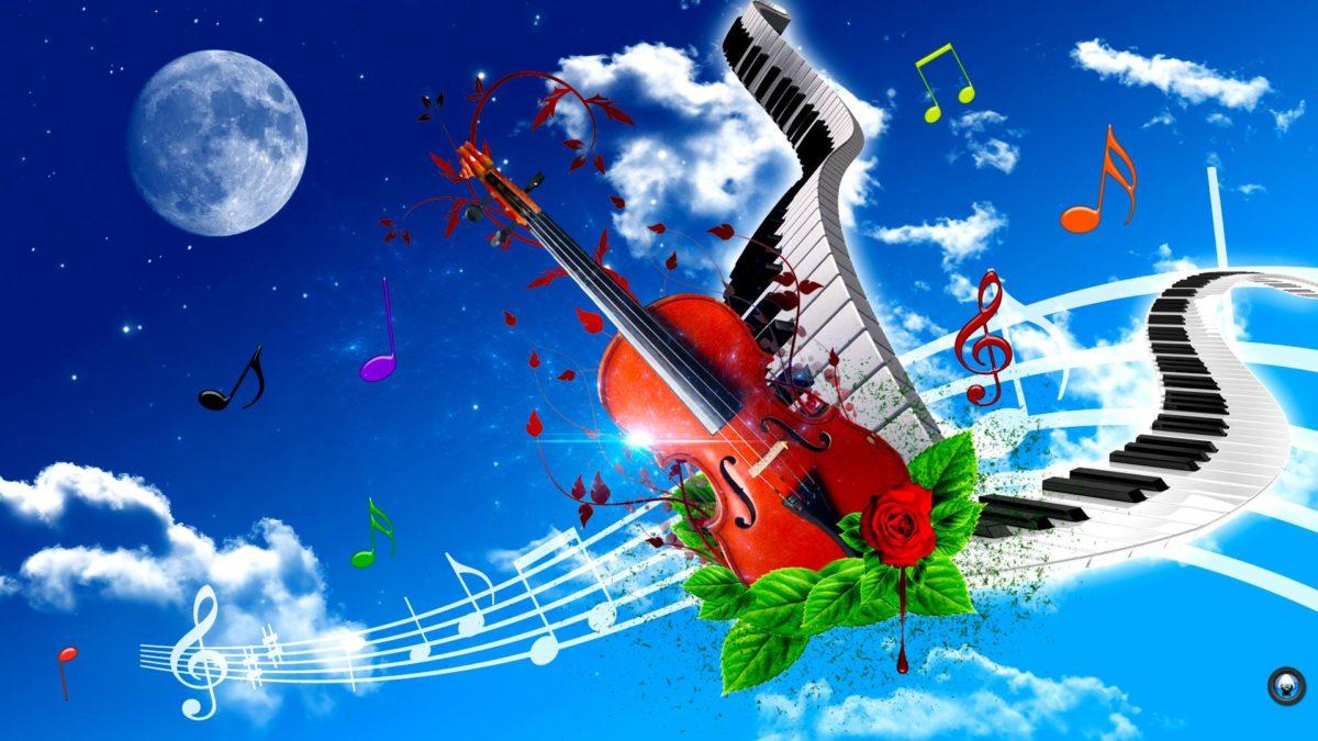 Violin And Piano Art Tone Wallpaper HD #6468 Wallpaper | Wallpaper …