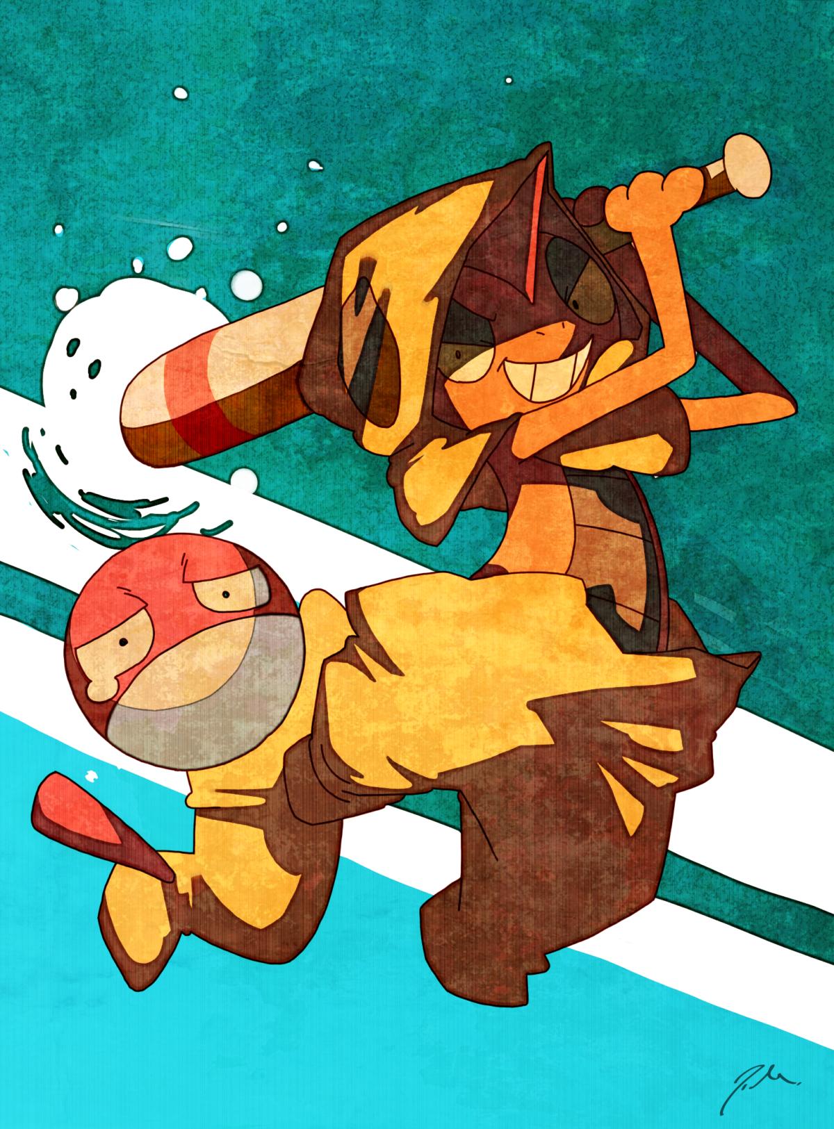 scrafty and voltorb (pokemon, pokemon (game), pokemon bw, and …
