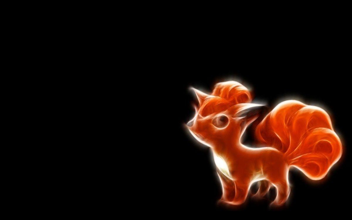 pokemon fractalius vector vulpix black background 1280×800 …