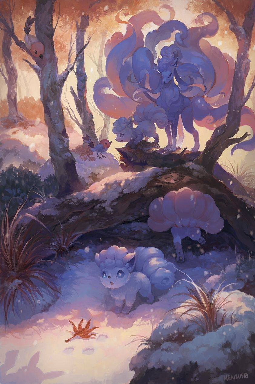 alolan ninetales, alolan vulpix, fletchling, and pikachu (pokemon …