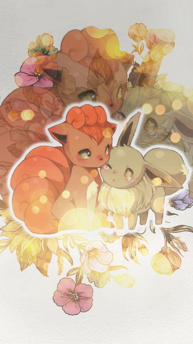 Vulpix and Eevee wallpaper by Machus-san on DeviantArt