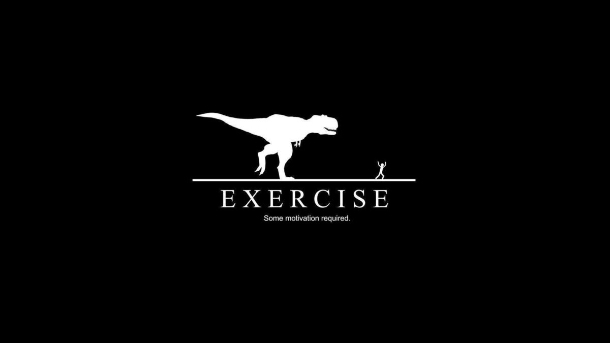Exercise Dinosaur Man Funny