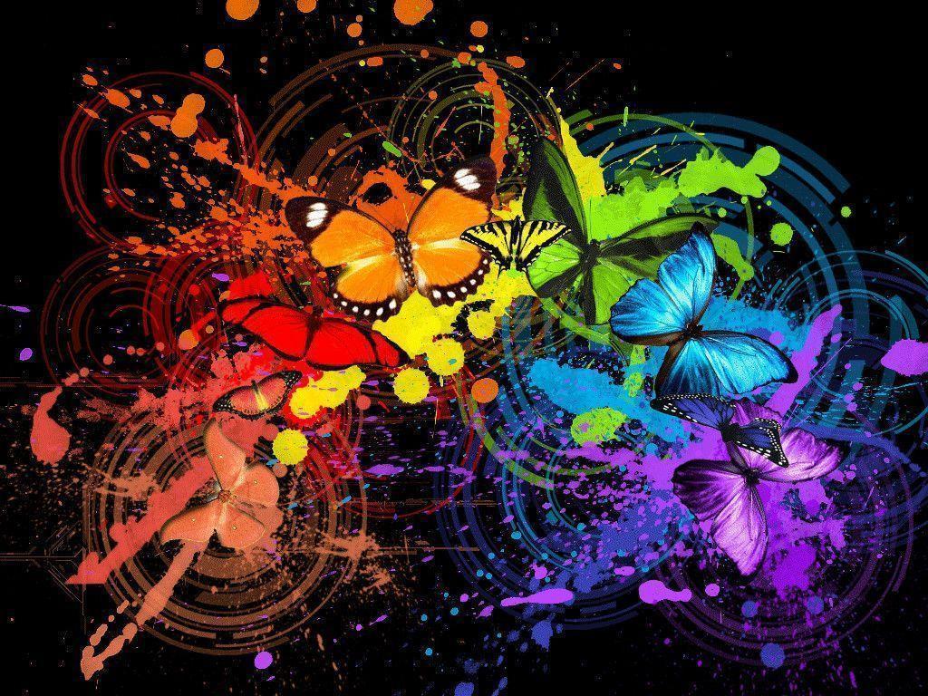 Download wallpaper: multicolored Butterflies, butterfly wallpaper …