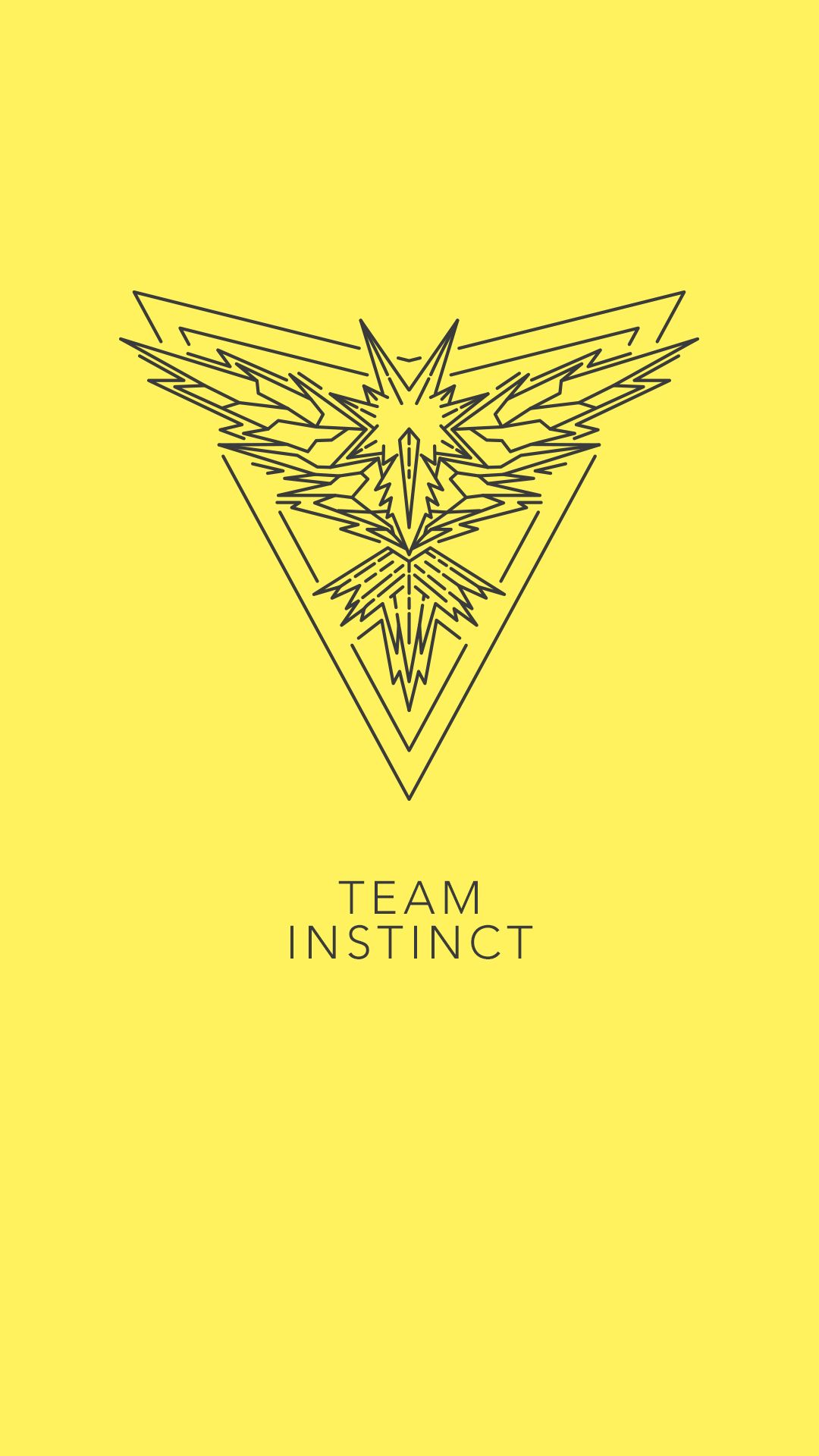 Team Instinct, PoGo, Pokemon Go, Yellow, Zapdos, phone wallpaper …