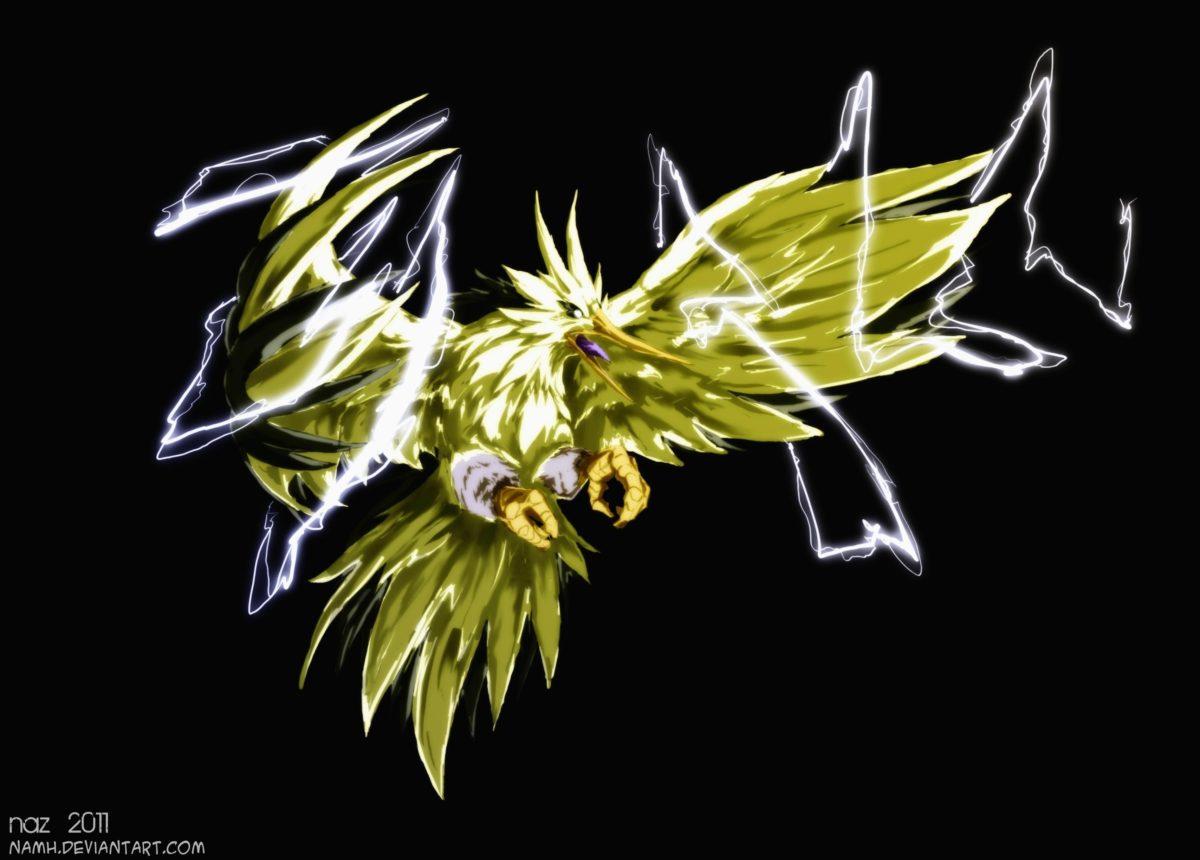 pokemon birds deviantart digital art artwork zapdos black …