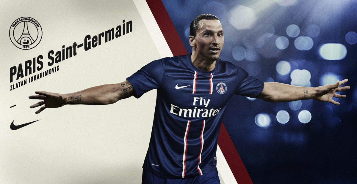 Zlatan Ibrahimovic PSG Wide HD Wallpaper