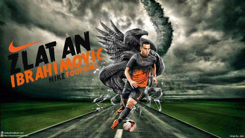 Zlatan Ibrahimovic Nike Wallpaper by jafarjeef on DeviantArt