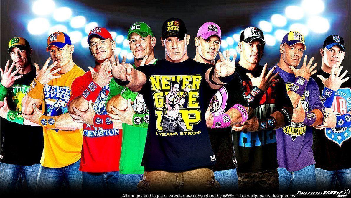 WWE John Cena Multi-Color Wallpaper Widescreen V3 by …